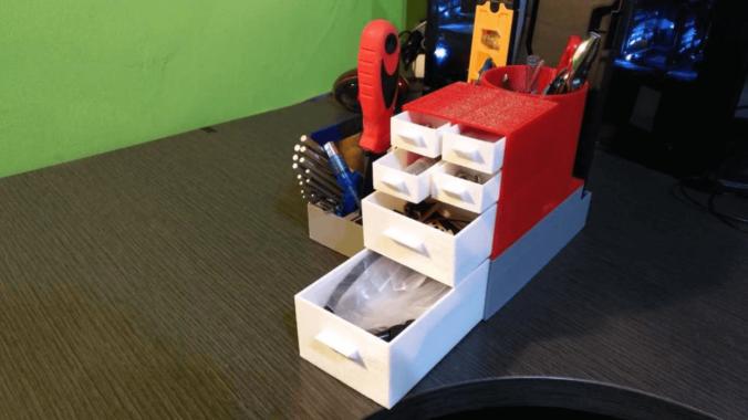 organizador escritorio y herramientas 3d