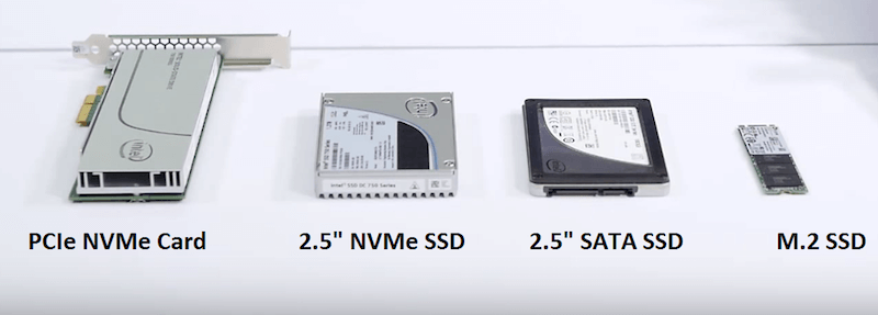 All ssd sizes: pci, nvme and sata 2.4, and m2